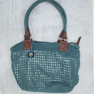 The Sak Crochet Turqupise Tote Purse